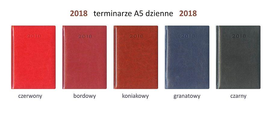 2018 kalendarze książkowe A5 dzienne terminarze