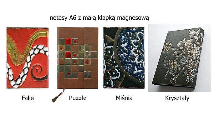 notesy A6 metalizowane okładki